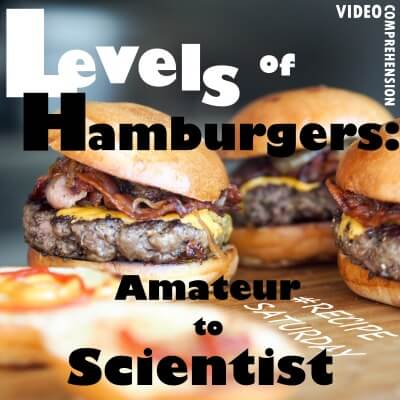 Levels of burger – from amateur to scientist